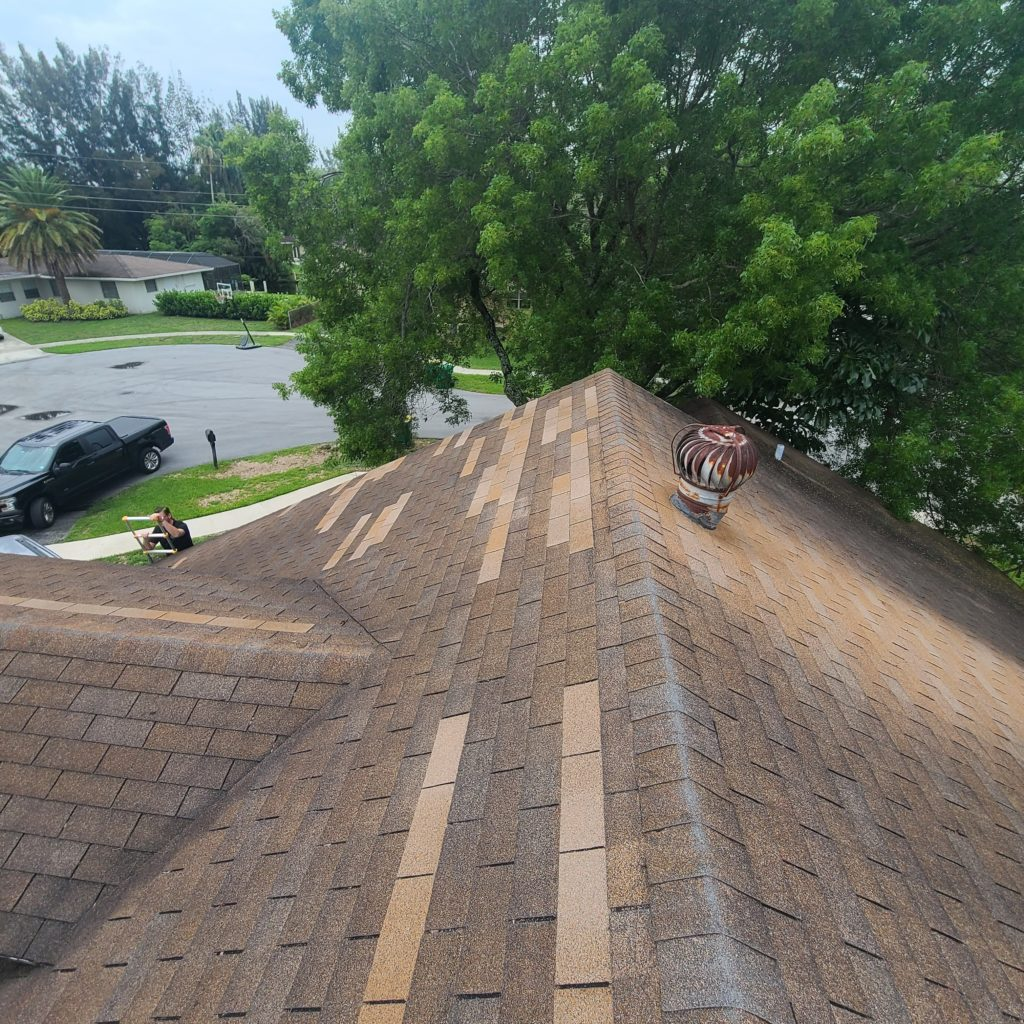 Hurricane damage roof patch